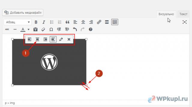 быстрый редактор картинки wordpress