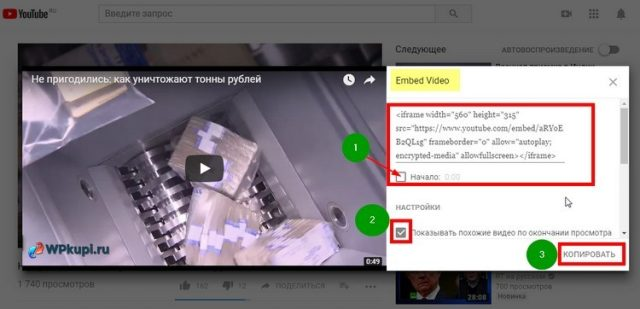embed video