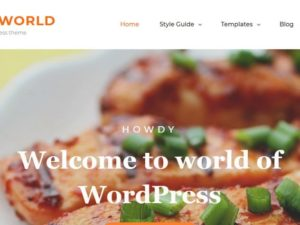 Foodie World тема WordPress
