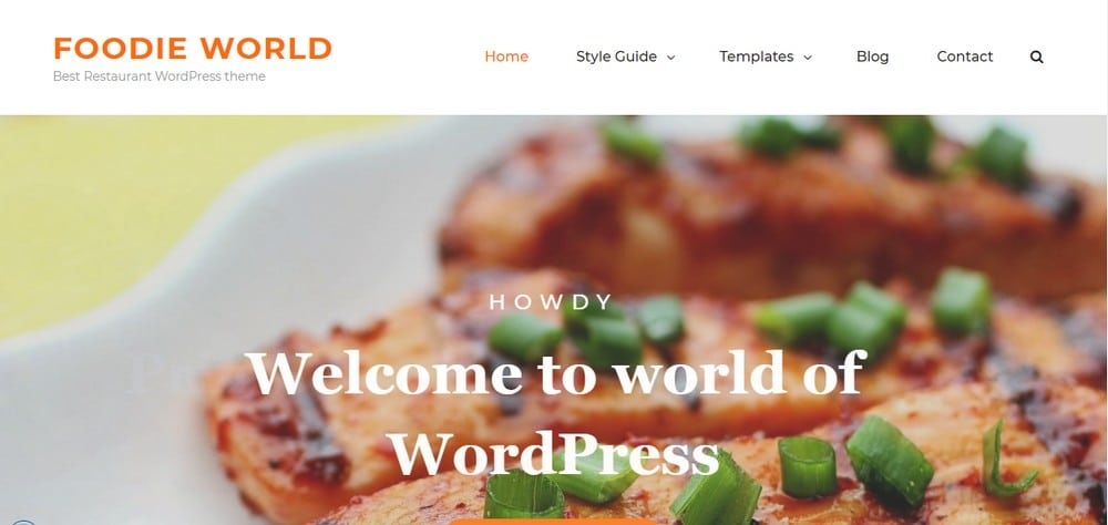 Foodie World тема WordPress