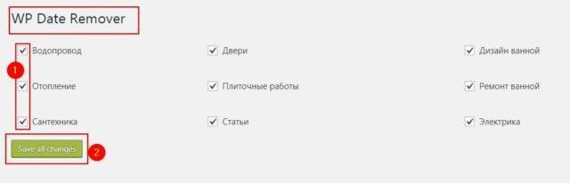 настройка плагина WP date remove