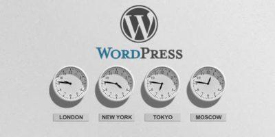 Часовой пояс и настройка времени WordPress