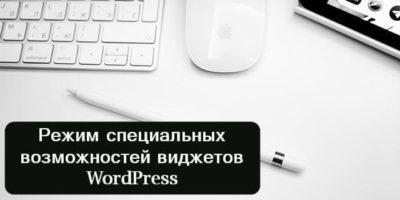 Режим специальных возможностей виджетов WordPress