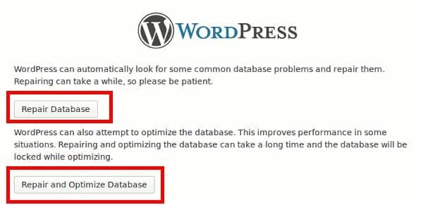 оптимизировать базу данных wordpress-